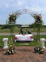 Decorated Arch and Plaster Columns (Wedding Rental Items) Picture - The Bull Golf Course, Sheboygan Falls, WI